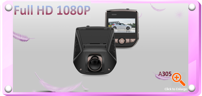 A305 Full HD 1080 WIFI-enabled (Android/iOS) 2.4 inch LCD Car DVR Dash Cam