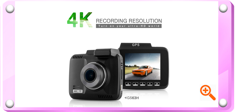 GS63H Full 4K GPS Tracker 2.4 inch LCD Car DVR Dash Cam