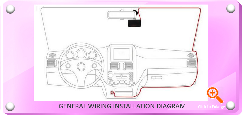 Car DVR Cam General Wiring Installation