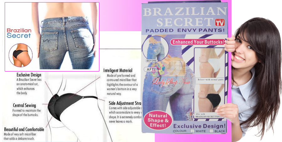 Sexy Brazilian Secret Panties Buttocks Enhancer Lingerie Underwear