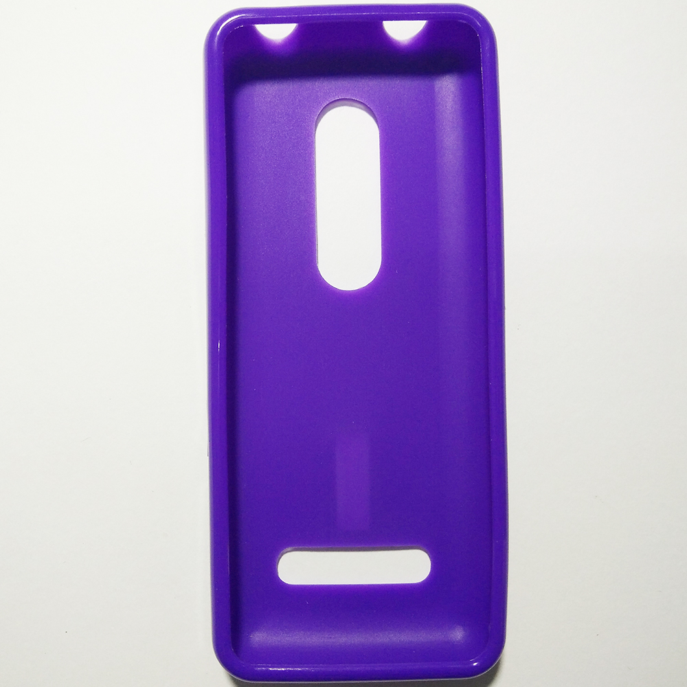 Phone Silicone Back Cover Case - NOKIA 206 (PURPLE COLOUR)