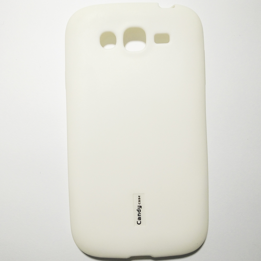 Phone Silicone Back Cover Case - SAMSUNG GALAXY GRAND (WHITE COLOUR)