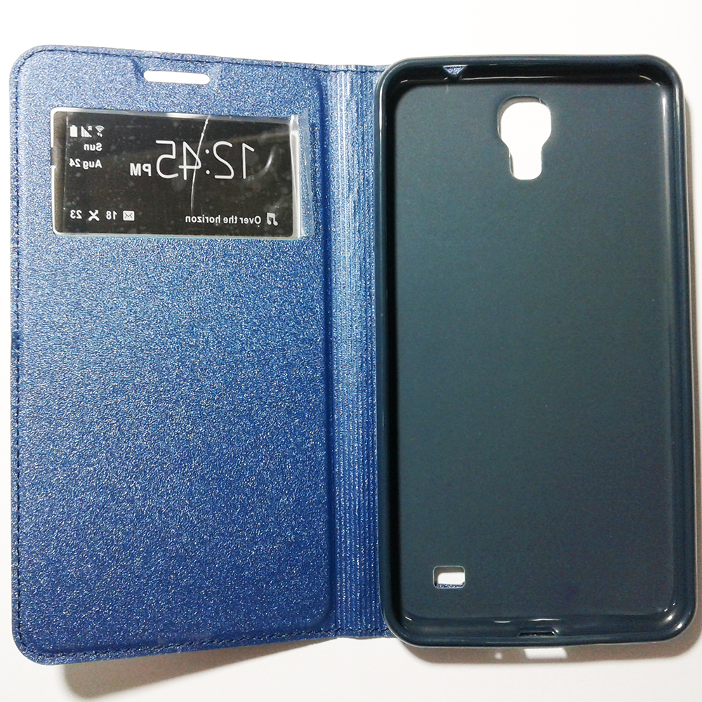 Phone Standable Flip Cover Case - SAMSUNG GALAXY MEGA 2 (BLUE COLOUR)