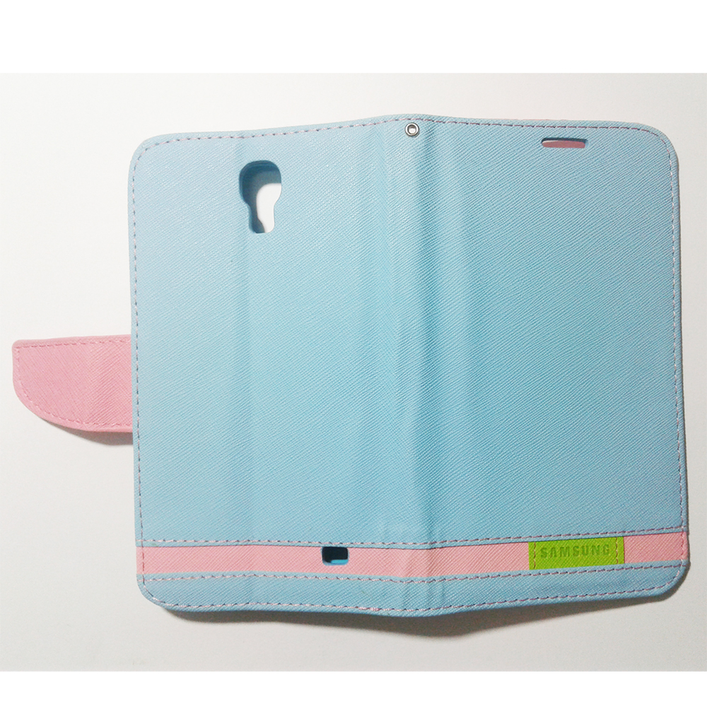 Phone Standable Flip Cover Case - SAMSUNG GALAXY MEGA 2 (BLUE/PINK COLOUR)