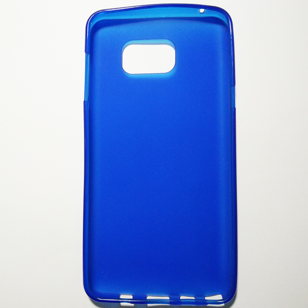 Phone Silicone Back Cover Case - SAMSUNG GALAXY NOTE 5 (BLUE COLOUR)