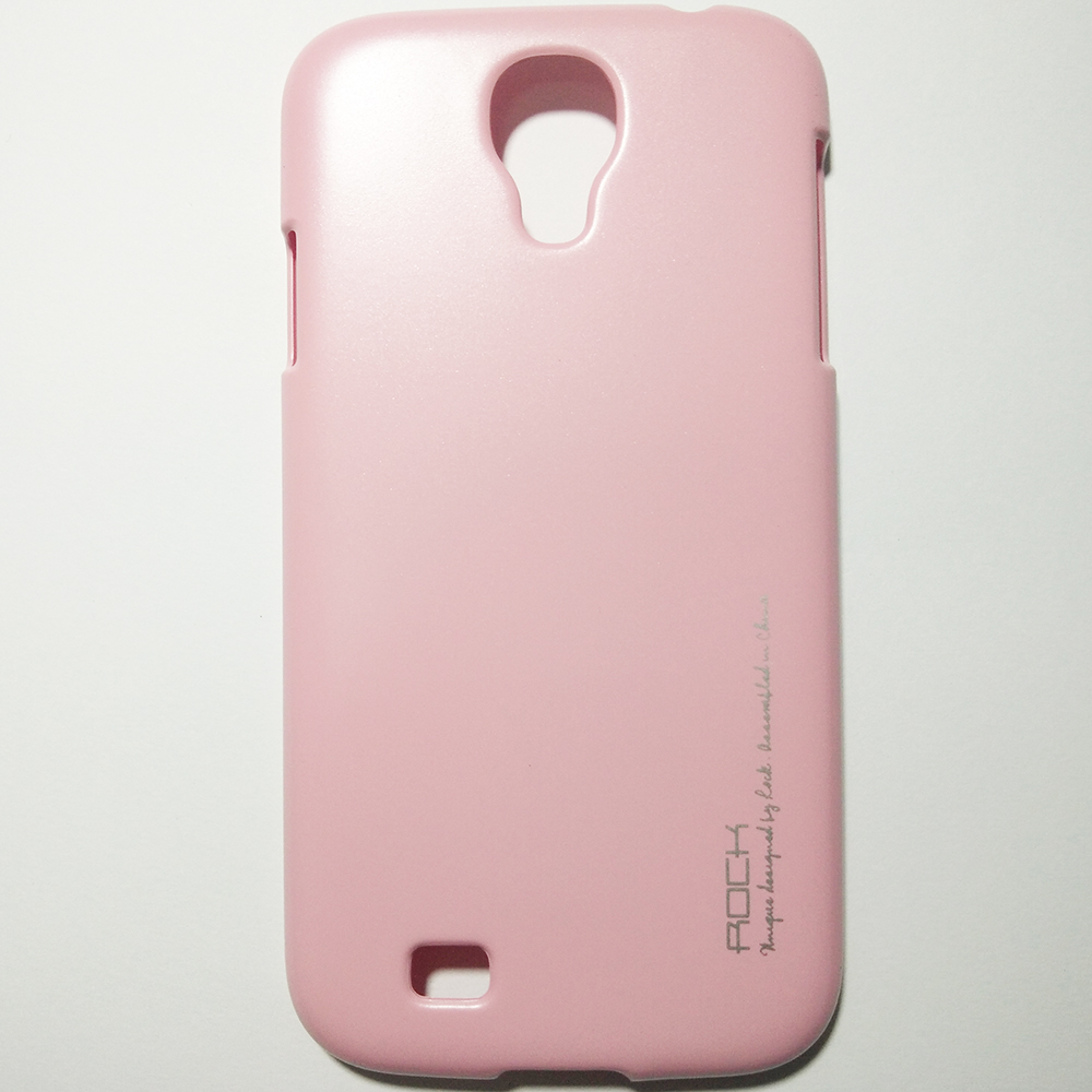 Phone Hard Back Cover Case - SAMSUNG GALAXY S4 (PINK COLOUR)