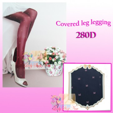 Dark Blue Color Legging With Printed Ribbon Dot-280D
