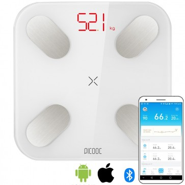 PICOOC MINI Smart Body Fat Weighing Scale + App - White Colour
