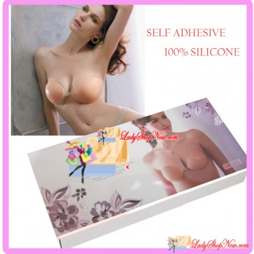 Cup B Unbra Silicone Push Up Invisible Self Adhesive Strapless