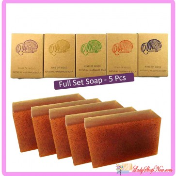 Woodie Pie Handmade Natural Soap Series in 5 pcs set
