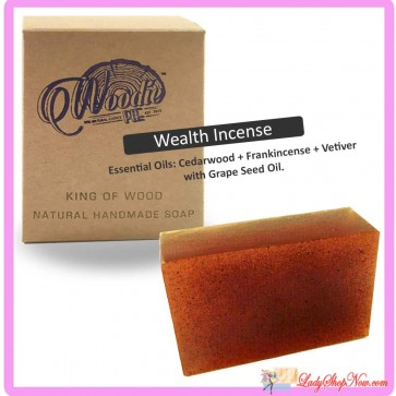 Woodie Pie Handmade Soap - Wealth Incense