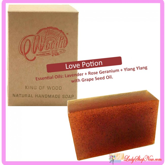 Woodie Pie Handmade Natural Soap - Love Potion. Zoom