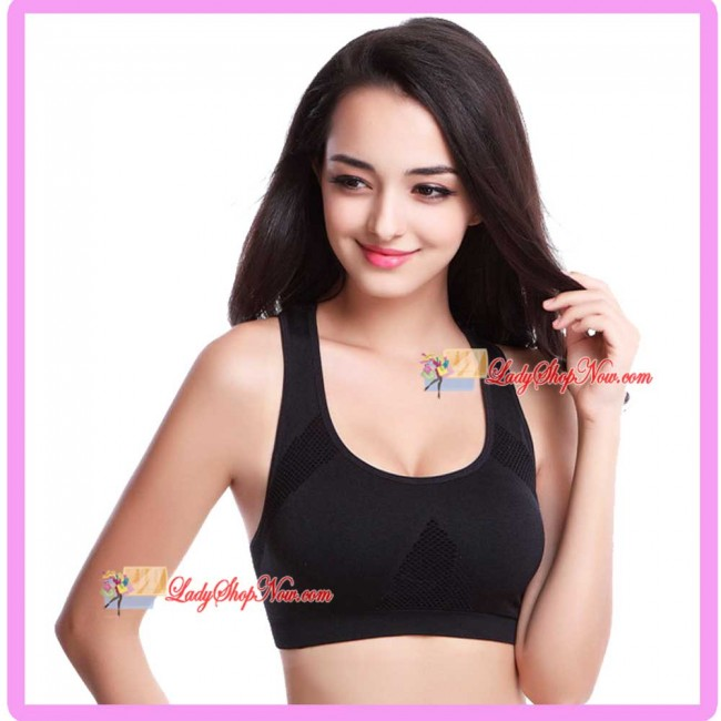 27a543ad5c Seamless Racer-Back H style Supportive Sport Bra Black M Size. Zoom