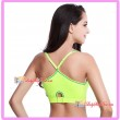 Seamless Racer-Back Y style Supportive Sport Bra Yellow L Size