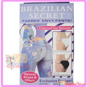Sexy Brazilian Secret Panties Buttocks Enhancer Black Colour Size M
