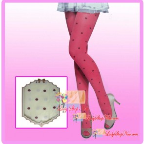 Yellow Color Legging With Printed Polka Dot-280D