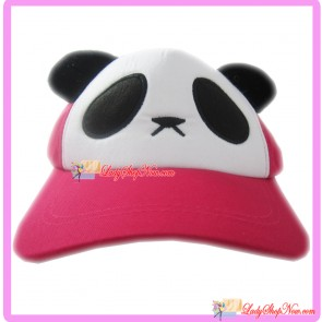 Cute Lovely Cartoon Panda Hat Cap for Kids - Dark Pink Color