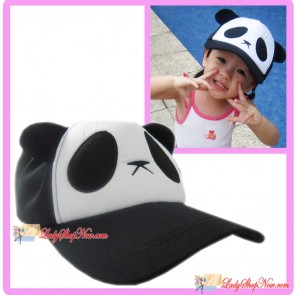Cute Lovely Cartoon Panda Hat Cap for Kids - Black