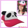 Cute Lovely Cartoon Panda Hat Cap for Teenager/ Adult - Dark Pink Color
